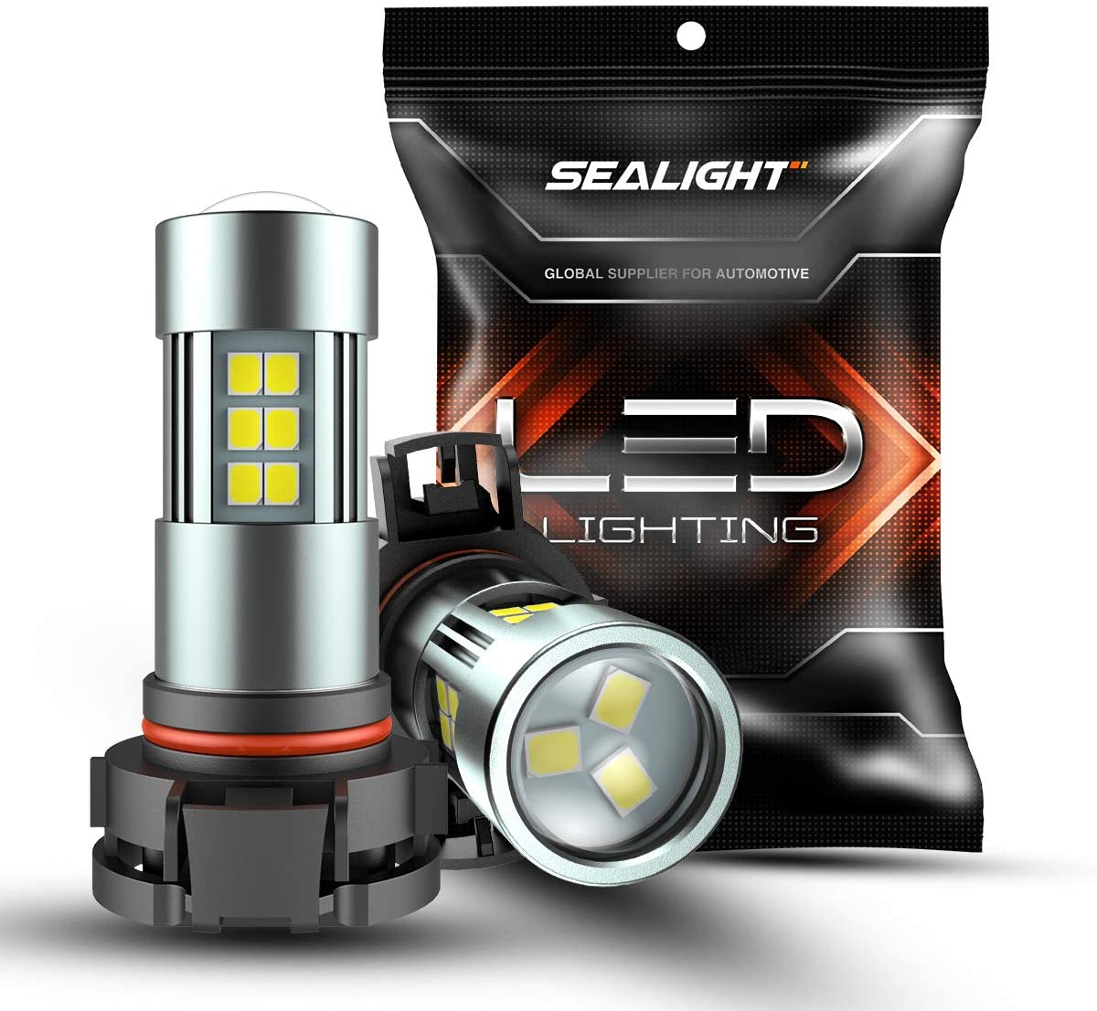 SEALIGHT 2 uds 5202 luces LED de niebla bombillas 6000K luces de circulación diurna 2504/H16 tipo 1PSX24W/9009 27 SMD Chips de luz
