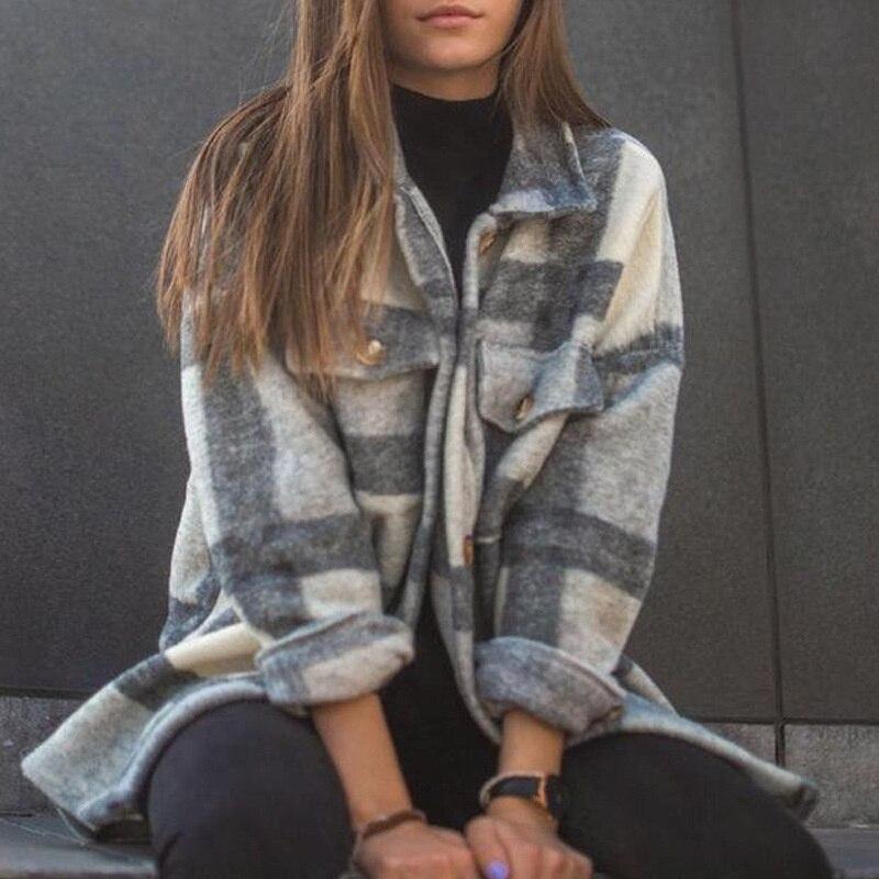 Fall Long Sleeve Loose Women's Coat Fall Outfit 2021 3