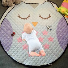 150 см мультфильм круглый коврик Детская сумка для хранения игрушек мешок для мелких предметов детское ползающее одеяло противоскользящие хлопковые игровые коврики