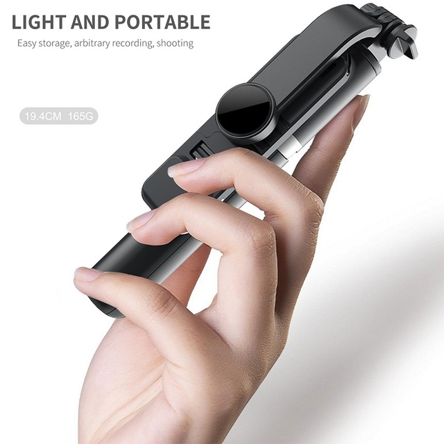 FANGTUOSI Wireless bluetooth selfie stick foldable mini tripod with fill light shutter remote control for IOS Android 5