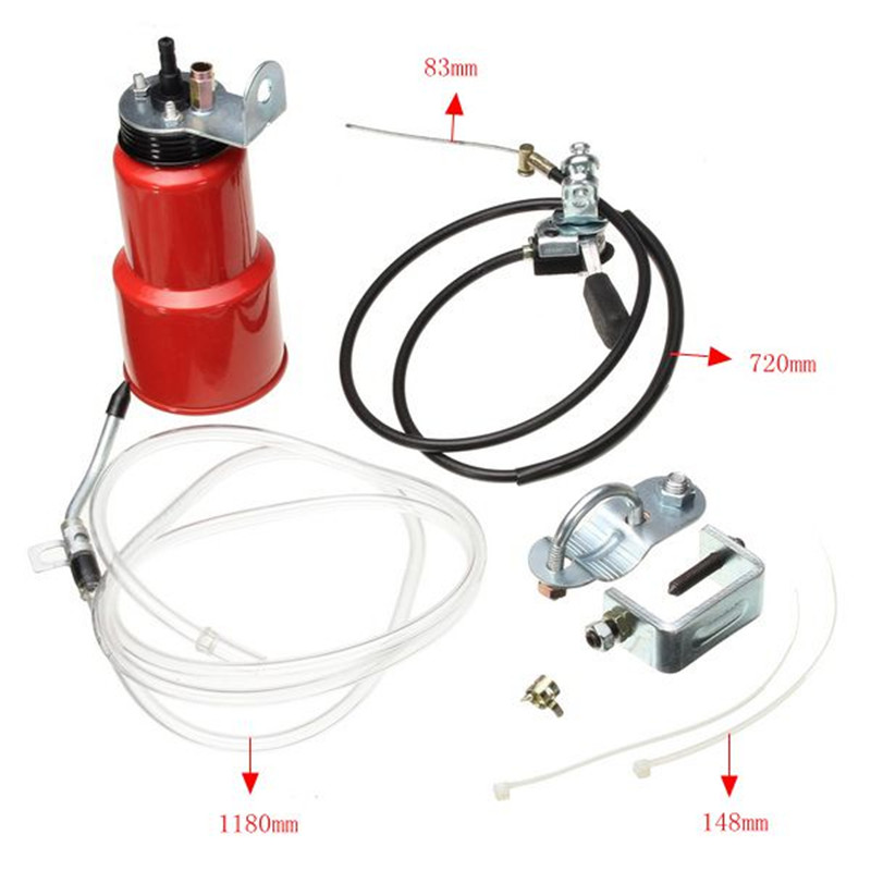 Auto Hand Control Motorbike Lubricant Grease Lub Parts Accessories Motorcycle Chain Lubricator Oiler Maintenance Set