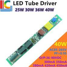 28W 30W 34W 36W LED Tube Conducteur 300mA 320mA 350mA 380mA 400mA 420mA 450mA Alimentation 110V 220V T5 T8 T10 Transformateur Déclairage