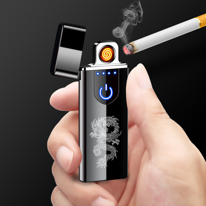 Ultra-thin Charging Cigarette Lighter Touch Screen Induction Double-sided Ignition USB Charging Lighter Cigarette Lighter