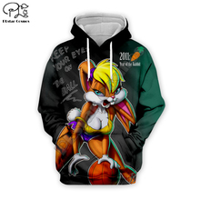 Men Cartoon anime Sexy Lola Bunny basketball 3d hoodies Sweatshirt zipper looney tunes print women Pullover couples streetwear