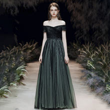 Женское длинное вечернее платье it's yiiya темно зеленое