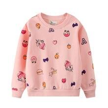 Осенне зимний свитшот для девочек детская одежда с принтом топы