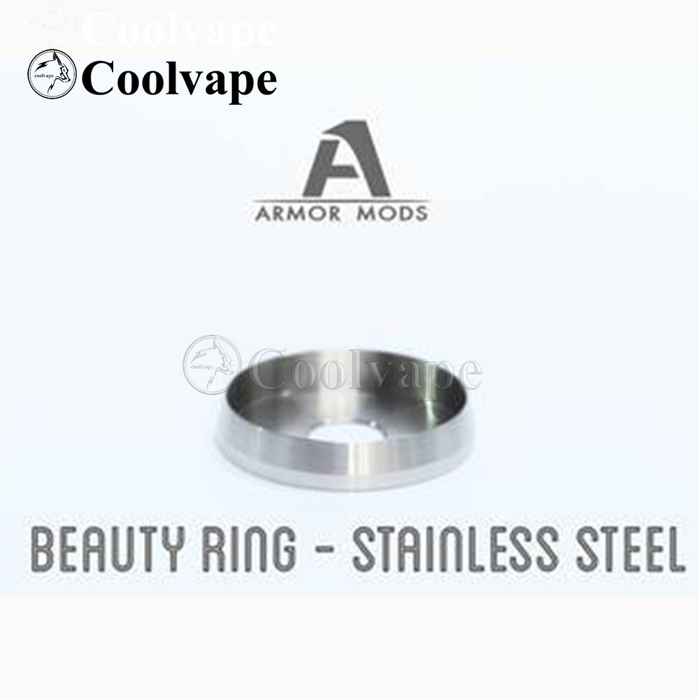 Coolvape Armor Beauty Ring For Armor Mods Engine Rda Black Delrin Stainless Steel 24mm And An Inner Diameter Of 22mm