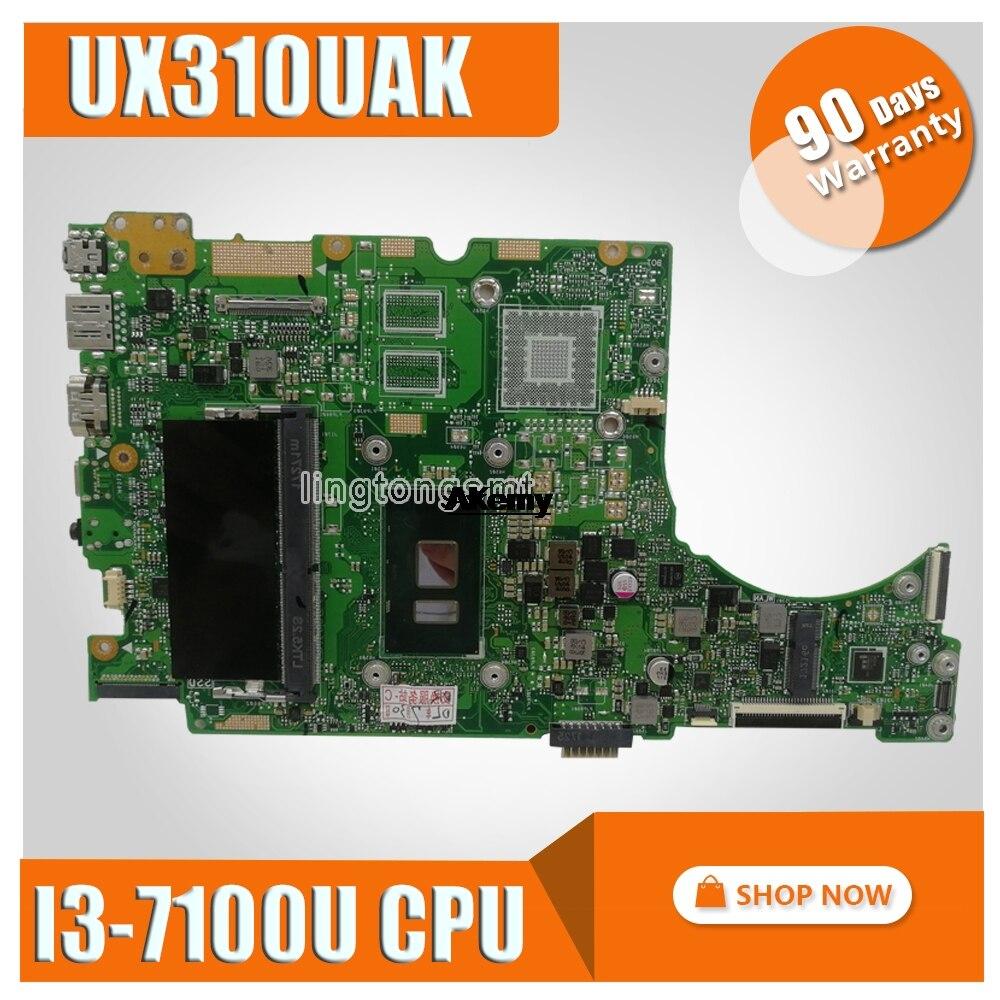 Laptop Motherboard For ASUS UX310UAK UX310UV UX310UQ UX310UA  UX310U Mainboard  I3-7100U CPU 4GB RAM  Exchange!!!