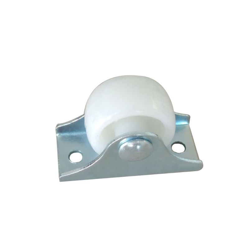White Rail Fixed Casters Small One-Way Wheel Furniture Plastic Directional Wheel Hardware Accessories