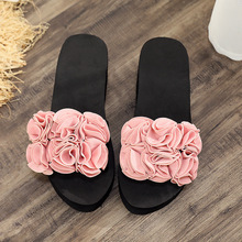 2019 Women Bow Summer Sandals Slipper Indoor Outdoor Flip-flops Beach Shoes New Fashion Female Casual flower Slipper gift цены онлайн