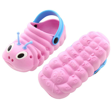 Buy Summer children's hole shoes boys and girls caterpillar sandals bathroom non-slip children's shoes cute cartoon children's shoes directly from merchant!
