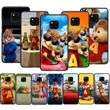 EWAU Alvin y las ardillas suave TPU funda de teléfono para Huawei Y5 Y6 Y7 Prime Y9 Mate 10 20 30 Pro Lite Nova 3 3i 5i