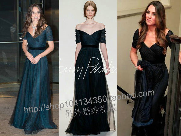 Kate Party Gown Short Sleeves Vestidos De Festa 2018 New Fashionable Sexy Long Celebrity Free Shipping Mother Of The Bride Dress