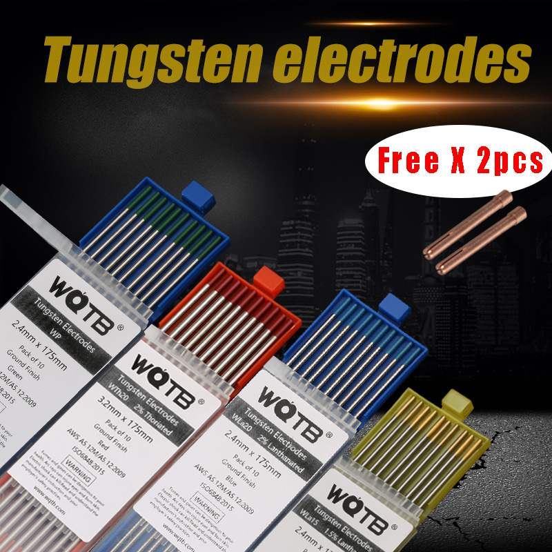 Professional Tungsten Electrodes  Tig Electrodes Welding WT20 WC20 WL15 WL20 WP WZR8 WS20 Gold Electrodes For Welding Aluminum