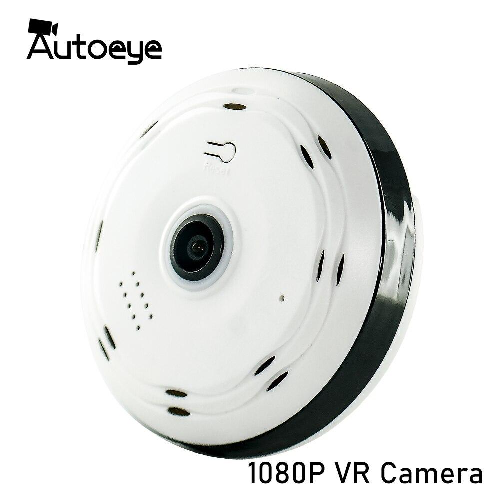 Autoeye 3D Fisheye IP Camera 1080P 960P 2MP 1.3MP 360 Degree Home Security WiFi VR Camera Panoramic Baby Monitor CCTV Camera
