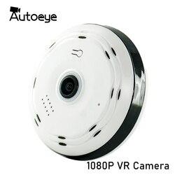 Autoeye 3D kamera IP Fisheye 1080P 960P 2MP 1.3MP 360 stopni bezpieczeństwo w domu WiFi kamer VR panoramiczny niania elektroniczna Baby Monitor kamera telewizji przemysłowej
