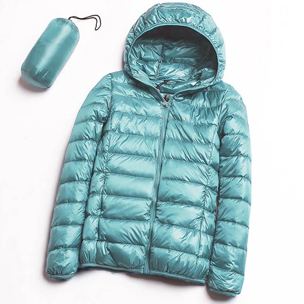 2019 Autumn Winter Women's   Jacket   Outerwear Down Warm Coat Ultralight Large Size 3XL   Basic     Jackets   Female Hooded Parka Overcoat