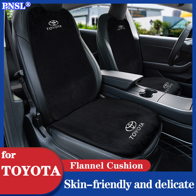 PNSL Car Seat Cover Protector Front Rear Seat Backrest Cushion Pad Mat for TOYOTA Yaris Alphard Priu
