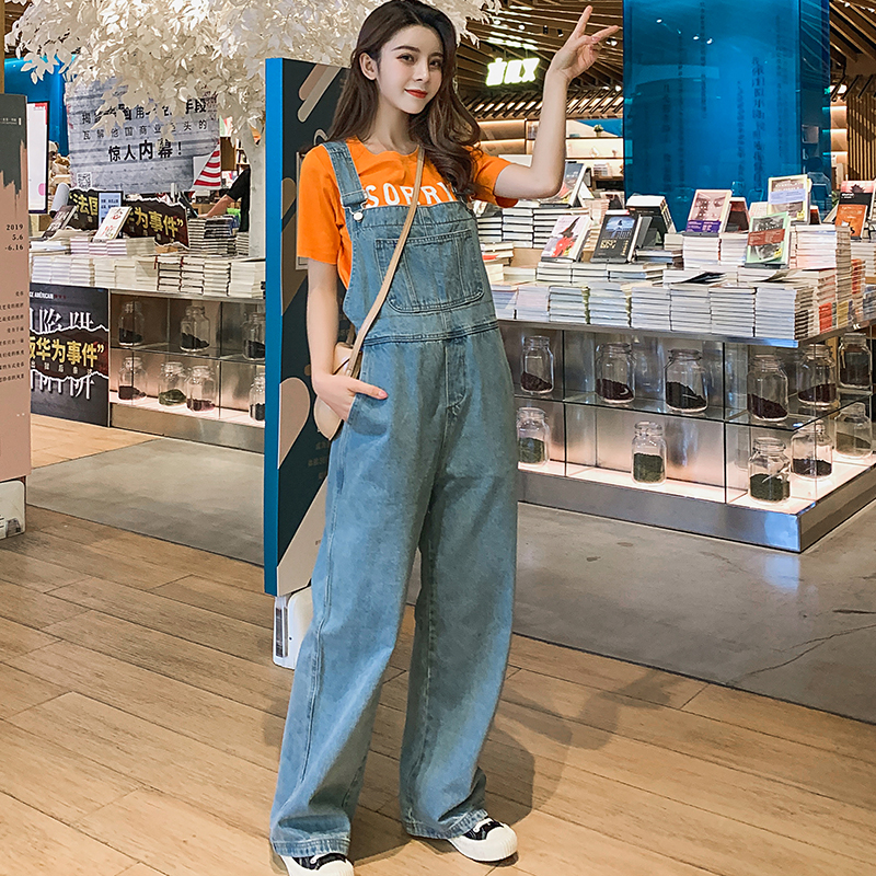Denim Women Overalls High Waist 2020 Spring Summer Casual Straight Jeans With Pockets Plus Size Jumpsuits And Rompers For Women
