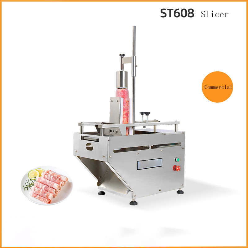 ST608 Commercial Fat Beef Mutton Vegetable Multi-function Roll Electric Meat Planer Automatic Household Meat Slicer