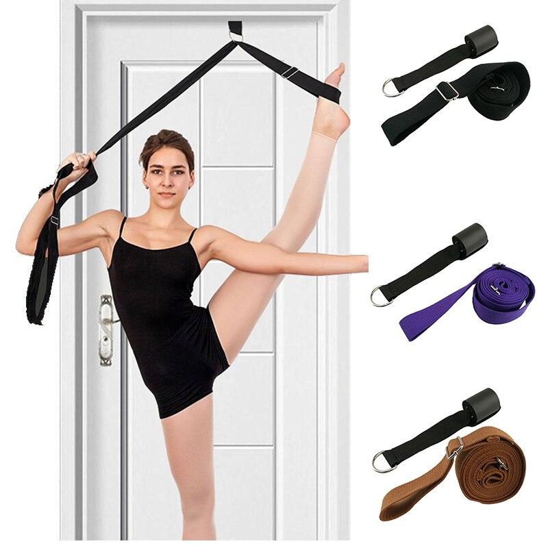 Yoga Stand Door Flexibility Door Stretching Stretcher Strap For Ballet Cheer Dance Gymnastics Leg Stretch Belt