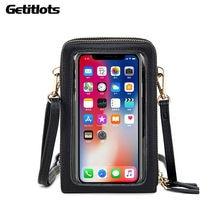 Новые сумки через плечо Женский кошелек для сотового телефона