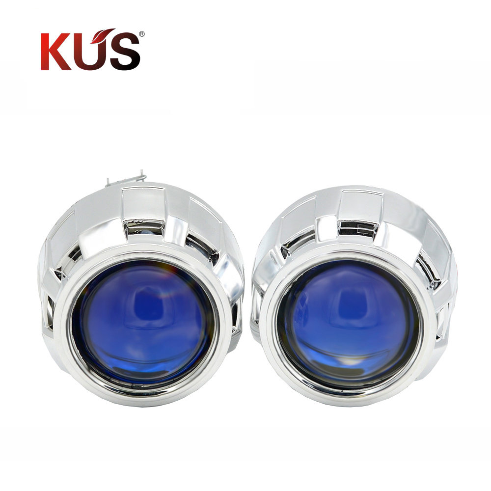 2.5 polegada ver7.1 revestimento azul bixenon lente do projetor apto para h1 h4 h7 farol carro kit de montagem