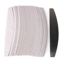 Coussinets amovibles gris avec poignée en métal, lime à ongles en papier de verre de remplacement 100 pour tampon dissolvant de callosités de manucure 50 pièces/100/180 pièces