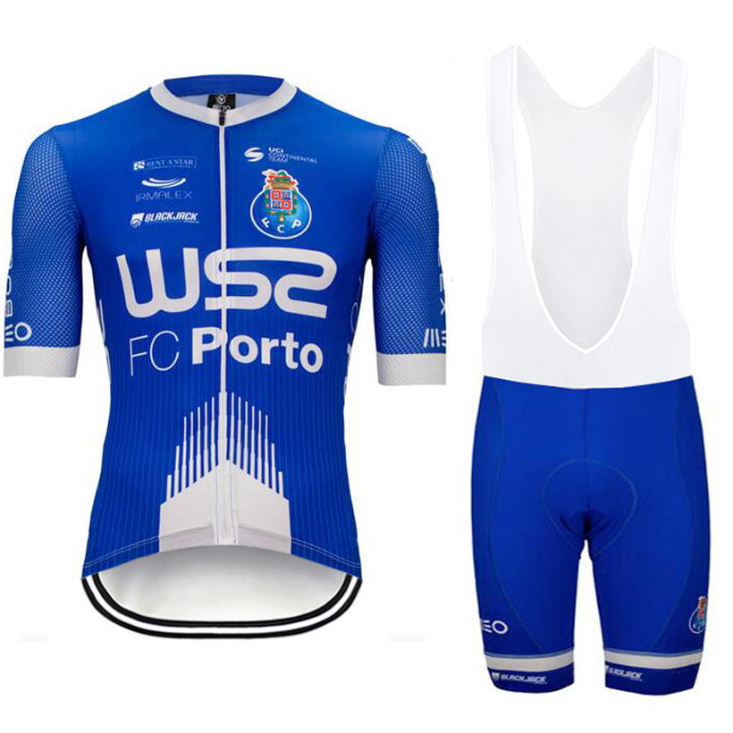TEAM 2020 WS2 FC Porto Cyling Clothing Jersey Bike Shorts Suit Mens Summer Quick Dry Pro BICYCLING Shirts Maillot Culotte Wear