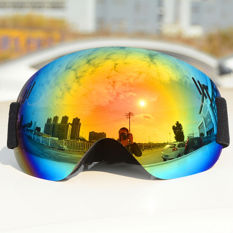 Ski Goggles Ski Snowboard Goggles Anti-Fog UV Protection Spherical Lens Frameless Snow Sports Goggles For Men Women
