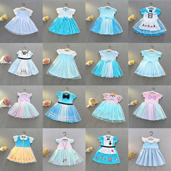 Baby Girls Princess Dress Kids Elza Cosplay White Costume Children Carnival Birthday Party Clothes Accessory Baby Girls Dress princess peach super mario bros costume classic game mario costume kids girls carnival cosplay party dress