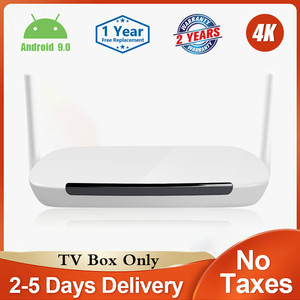 Image 1 - Leadcool Q9 Tv Box Android 9.0 Amlogic S905W Quad Core H.265 Media Player 2.4G Wifi 100M Support 4k 3D Smart Android Tv Box