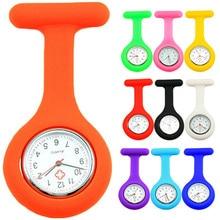 Милые силиконовые часы-брошь для медсестры, карманные часы, туника, кварцевый механизм, часы для доктора, медицинские, reloj de bolsillo, часы для женщин