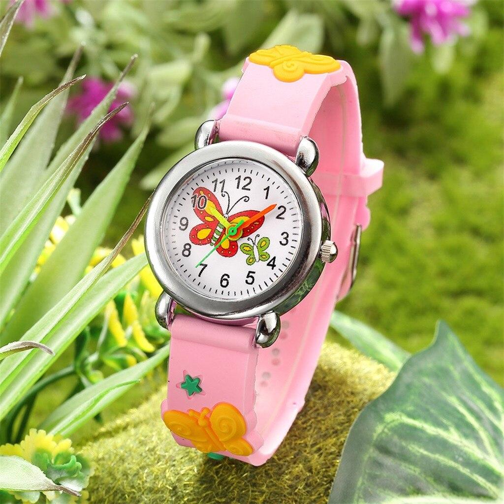 Детские часы милые туфли-лодочки для девочки с симпатичным с мультипликационным принтом; Часы для мальчиков и девочек Кварцевые аналоговые...