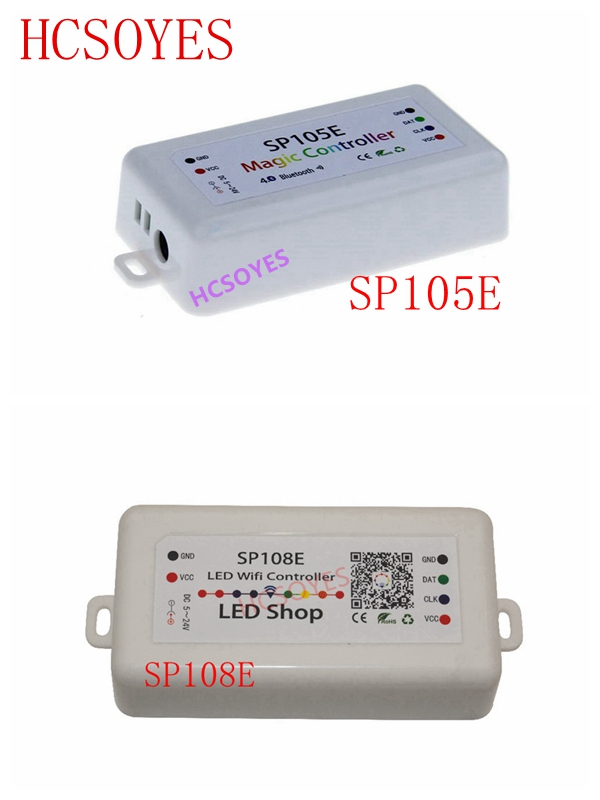 DC5-24V SP105E SP108E Magic Controller Bluetooth 2048 Pixels For WS2811 2812 2801 6803 IC LED Strip Support IOS / Android APP
