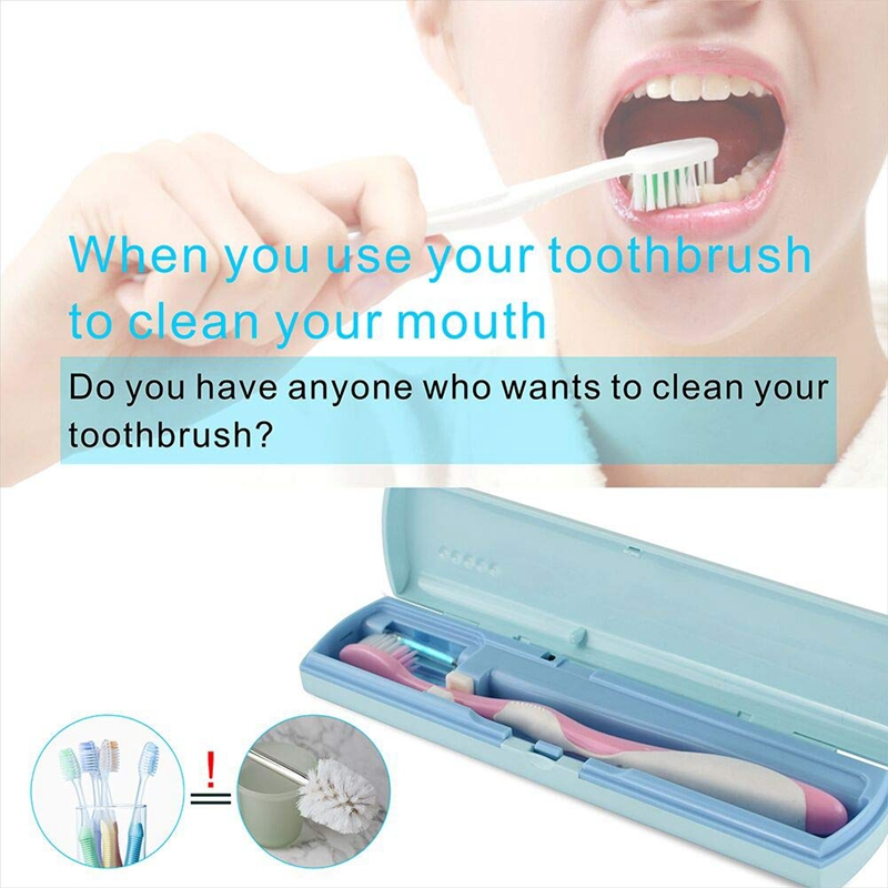 Portable USB UV Toothbrush Sterilizer Electric Toothbrush Sanitizer for Travel/Business/Home Sterilizing Effect Up to 99.9% image