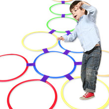 Jump-Ring-Set Game Park Physical Sport-Toys Play Training Funny Girls 10-Hoops Outdoor Kids