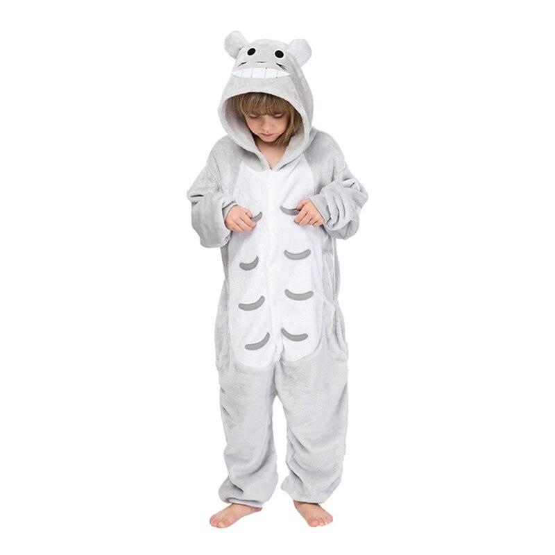 Children Kigurumis Onesies Cartoon Cute Totoro Pajama Suit Girl Boy Party Winter Homewear Jumpsuit  Cosplay Sleepwear Child