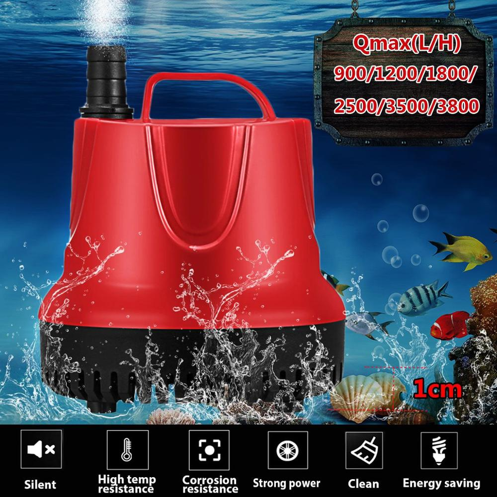 10/15/30/45/60/80W 50Hz Water Pump Fish Tank Submersible Ultra-Quiet Pump Fountain Aquarium Pond Spout Feature Pump