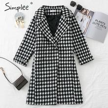 donne cappotto Simplee plaid