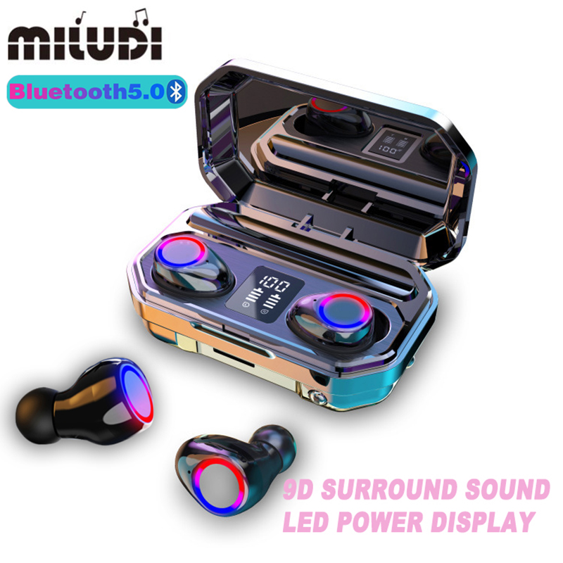 Galleria fotografica M12 Mini TWS Cuffie Senza Fili di Bluetooth Musica Auricolari di Affari di Sport Auricolare Auricolari per Xiaomi <font><b>Huawei</b></font> Oppo Samsung Iphone