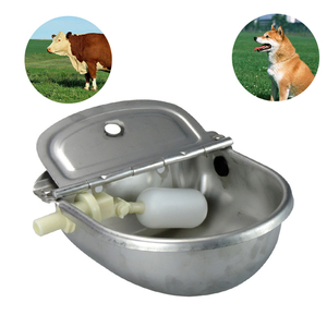 Image 4 - Farming Pet Sheep Dog Horse Automatic Float Cattle Cow Water Bowl Drink With Drain Hole Goat Trough Supplies Stainless Steel