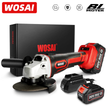 WOSAI MT Series 20V Brushless Angle Grinder Lithium-Ion Battery Cordless Angle Grinder Machine Cutting Electric Power Tools