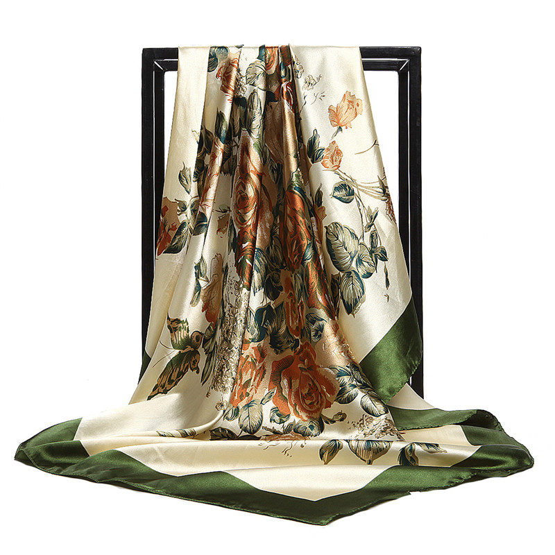 Chinese Quality Silk New Style Spring And Summer Women Silk Scarves Lady Fashion Lovely Print Square Scarf Shawl Beach Headscarf