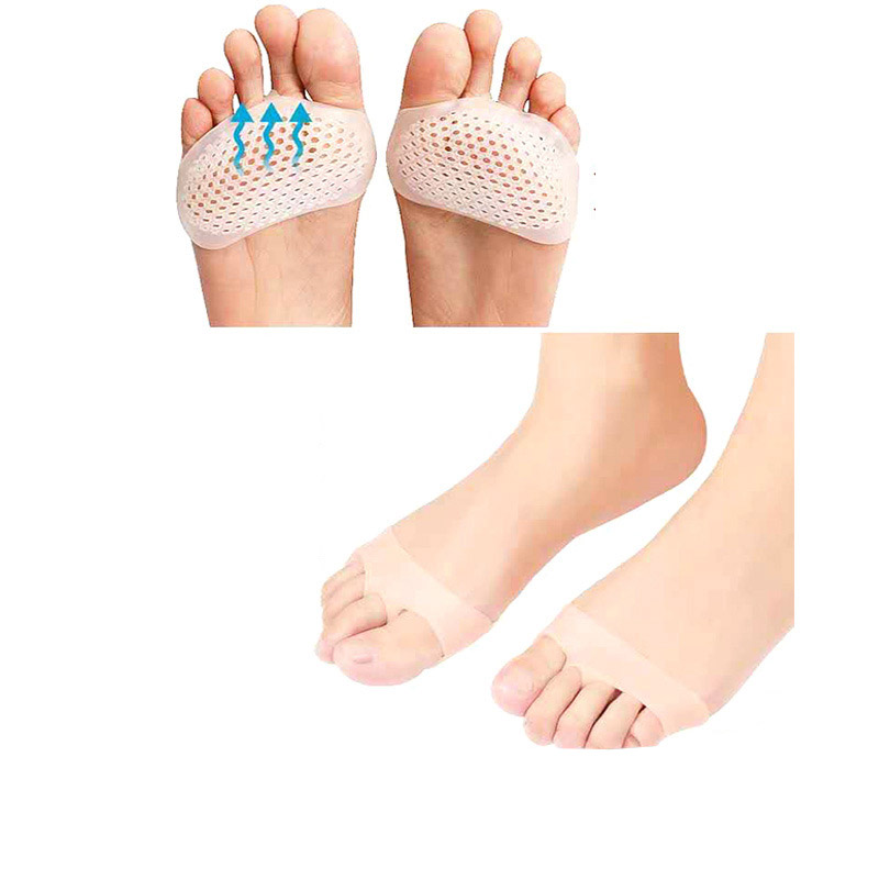 Silicone Padded Gel Breathable Men Health Care Pad Belly Ballet Gym Yoga Dance Toe Shoes High Heel SEBS Insoles Woman