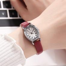 New Women Leather Small Vintage Roman Digital Wristwatch Students Watches Fashion Quartz Watch Julius 544 Clock Relogio Feminino