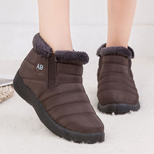 Теплые ботинки на меху с нескользящей подошвой; Теплые повседневные ботинки для мам; коллекция года; Водонепроницаемая женская зимняя обувь; зимние ботинки для пары