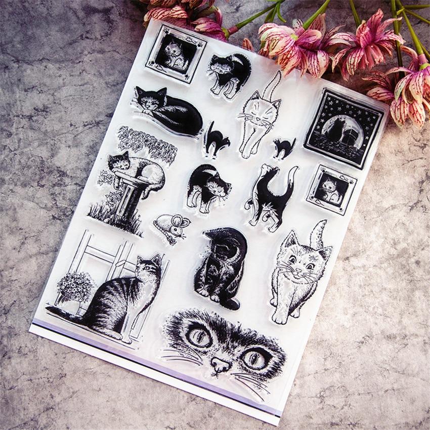 Горячая Распродажа, прозрачный штамп в виде кошки/силиконовый альбом для скрапбукинга своими руками/производство открыток