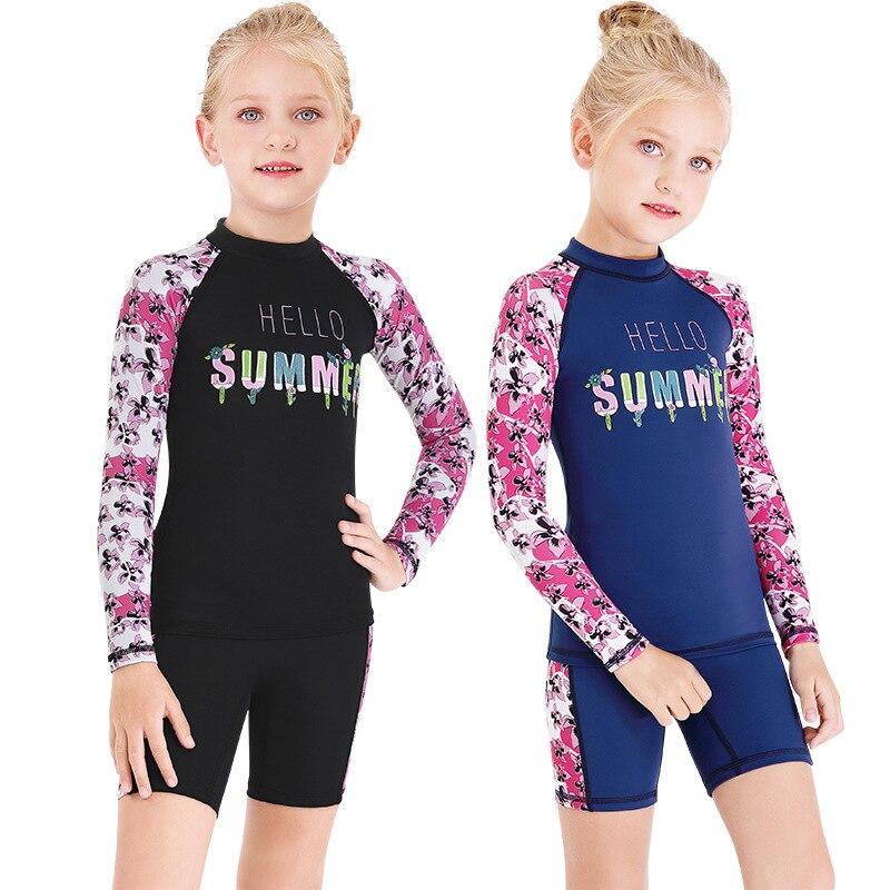 2020 New Style KID'S Swimwear Sun-resistant Split Type Swimming Shorts Short Sleeve Children Snorkeling Quick-Dry Jellyfish Clot