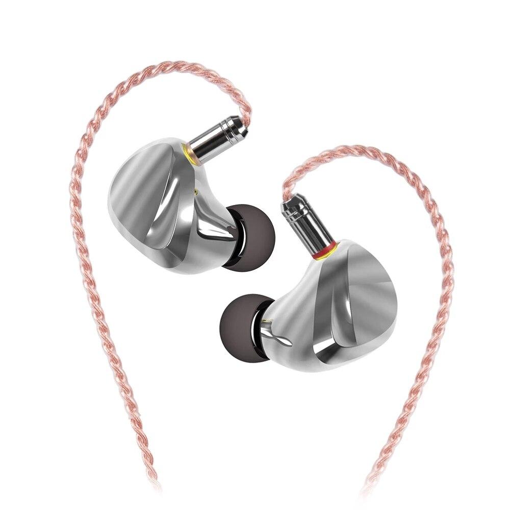 Trii3-auriculares internos HIFI para DJ, auriculares de Metal híbridos magnéticos planos, controlador dinámico compuesto de 8MM y controlador de armadura equilibrada